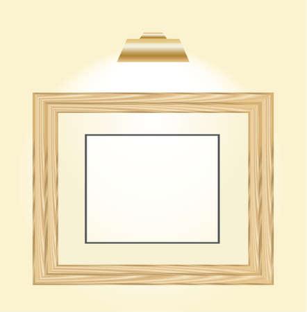 bordering: marco de madera imagen horizontal con una luz arriba de ella  Vectores