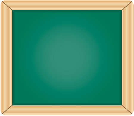 Blank green chalkboard / blackboard with wooden frame isolated on white background Stock Vector - 6882780