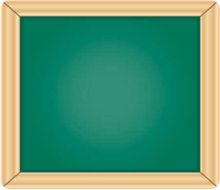 Lavagna verde vuoto / lavagna con cornice in legno isolato su sfondo bianco Vettoriali