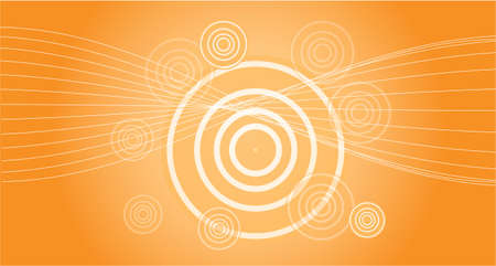 background in orange with sun effect for music or dance Vector