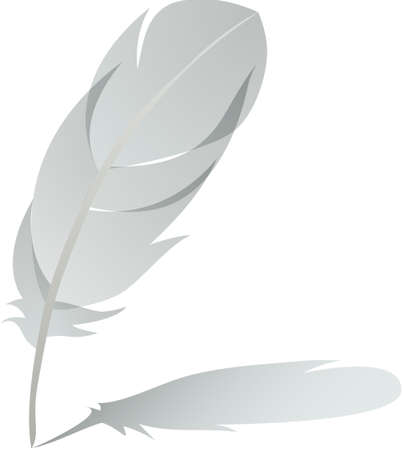 feather with shadow detailed in solid colors Stock Vector - 6882784