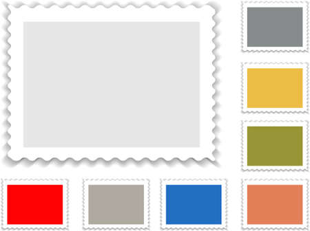 postage stamp in grey and with alternatife colors Stock Vector - 6882863