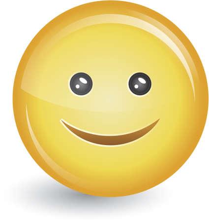 amabilidad: Insignia de botón de cara sonriente feliz