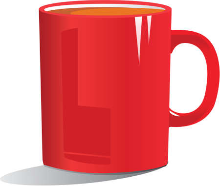 stimulant: illustration of coffee in a red mug