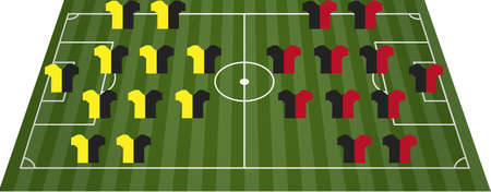 Football soccer field pitch Vector