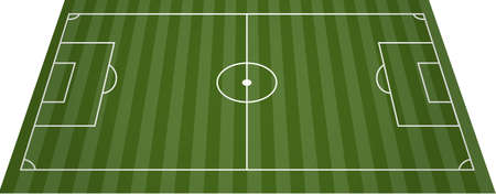 runing: Football soccer field pitch