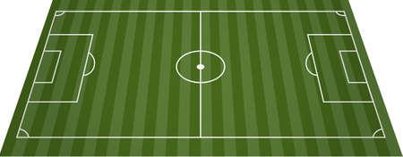 Voet bal voetbal veld veld  Vector Illustratie