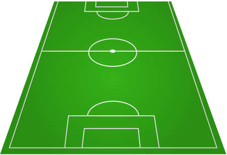 terrain: Football soccer field pitch  Illustration