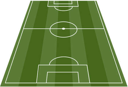 worldcup: Football soccer field pitch  Illustration