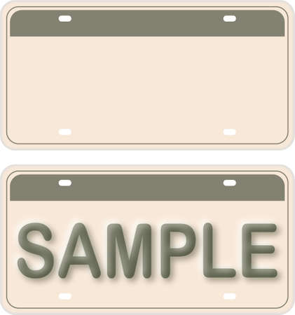 Empty License Plate With Editable Live Texts  Stock Vector - 7039909