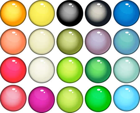 glossy buttons web  Vector