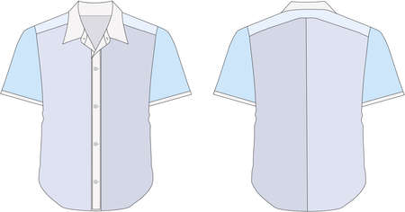 relaxed man: Collar Dress Shirt In Blue Color Tones