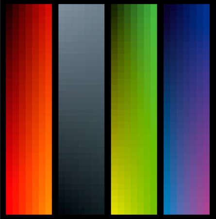 bacground: Gradient color banners in vertical format on black bacground