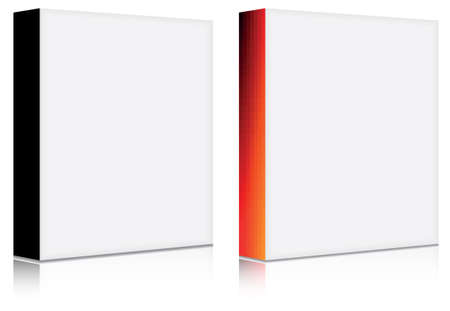 product box:  3d blank software box with solid and gradient front