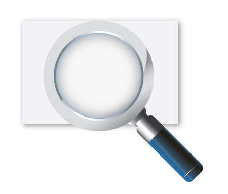 magnifying glass icon Stock Vector - 7305701