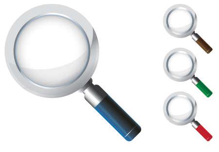 scrutiny: icono de la lupa Vectores