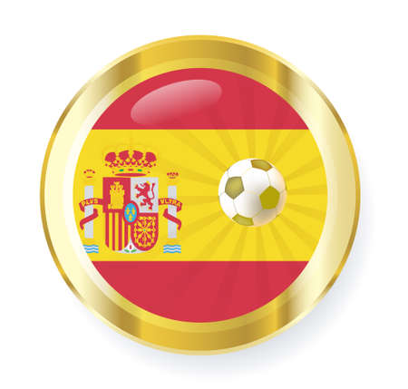 national flag of spain in circular shape with additional details Stock Vector - 7347341