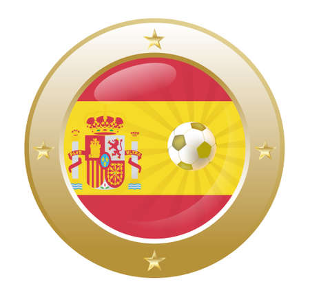 isabella: national flag of spain in circular shape with additional details
