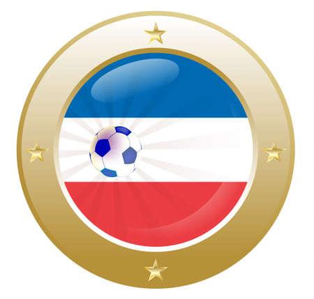 bordering: bandera nacional de los Pa�ses Bajos (Holanda) en forma circular con detalles adicionales  Vectores