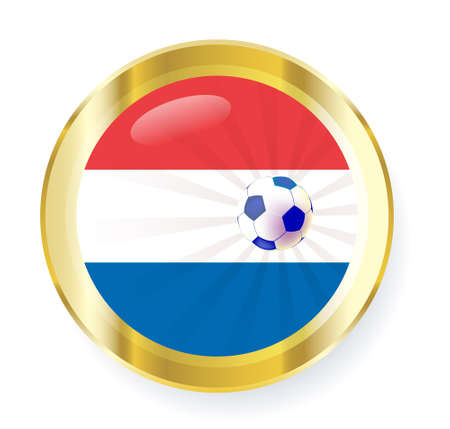 northwestern: national flag of the Netherlands (Holland) in circular shape with additional details Illustration