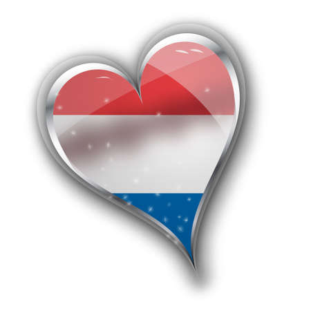 northwestern: national flag of the Netherlands (Holland) in heart shape with additional details