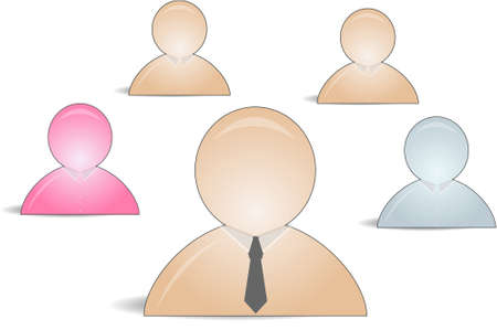 web buddy icons as a group with a leader Stock Vector - 7347345