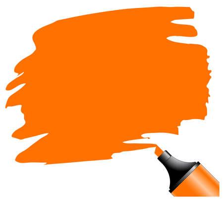 Evidenziatore con scarabocchia su un pezzo di carta, bianco del testo possa essere aggiunti su area colorata Vettoriali