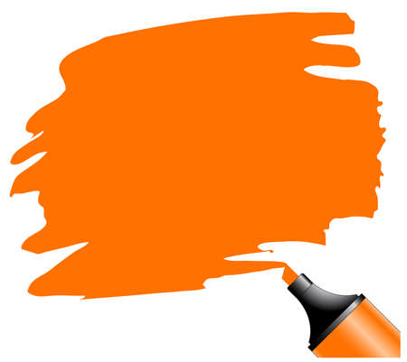 Highlighter pen with scribbles on a blank piece of paper, your text can be added on colored area Stock Vector - 7394859