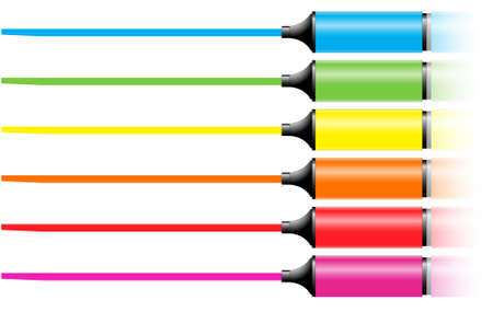 marker pens with a line in various colors Stock Vector - 7394874
