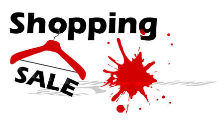 business meeting asian: achat vente design avec un cintre en rouge et noir Illustration