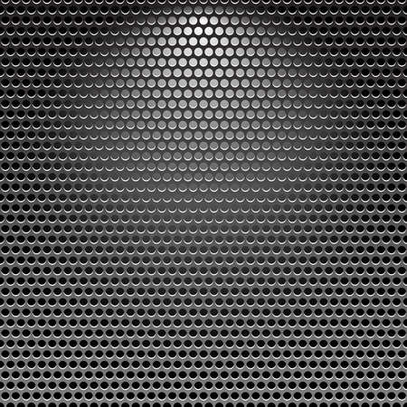 Dark stainless grille metal texture background with light effect
