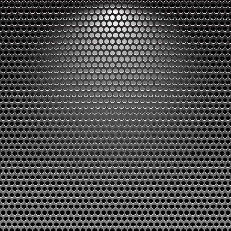 Dunkle Edelstahl Kühlergrill Metall Textur Hintergrund mit Lichteffekt  Vektorgrafik