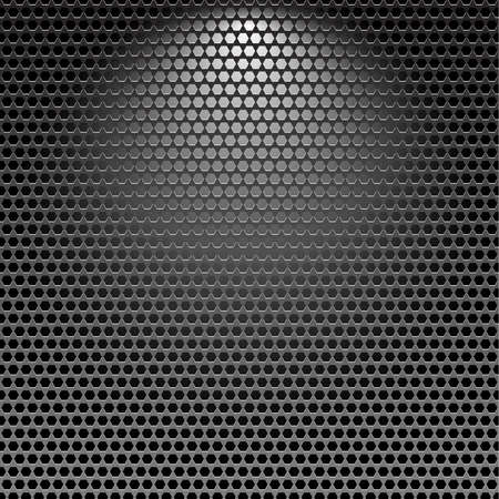 Dark stainless grille metal texture background with light effect  Vector