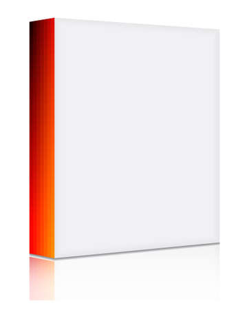 personalize: 3d blank software box with solid and gradient front