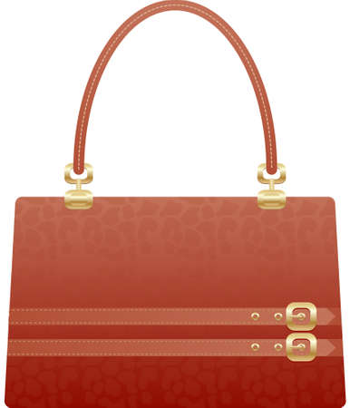 �back ground�: beautiful handbag purse on the white back ground Illustration