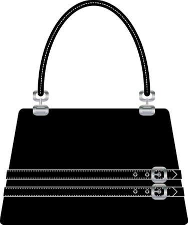 Bolso hermoso bolso en el suelo de espalda blanco  Ilustración de vector