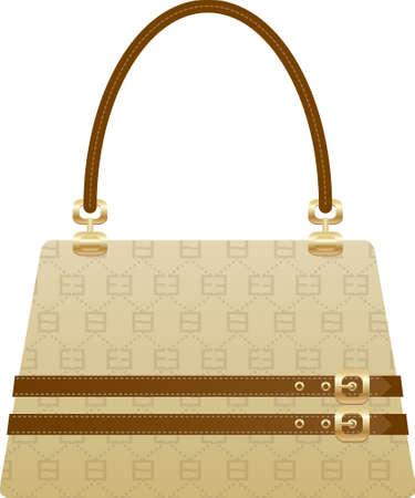 personal shopper: beautiful handbag purse on the white back ground Illustration