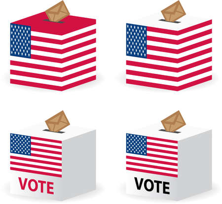vote poll ballot box for united states election Stock Vector - 7728407