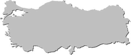 turkey istanbul:  illustrazione della mappa della Turchia  turco map