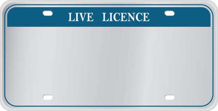 Lege License Plate met gebouwd in reliëf effect afbeeldings stijl zodat u dit emboss effect op elk letter type van uw keuze toepassen kunt