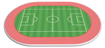 pista de atletismo: 3 dimensional campo de f�tbol junto con el hip�dromo