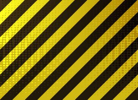 hazardous work:   illustration of  grungy hazard stripes in dark yellow and black colors