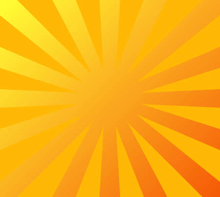 illustration of sunburst in orange and yellow color tones  Vector