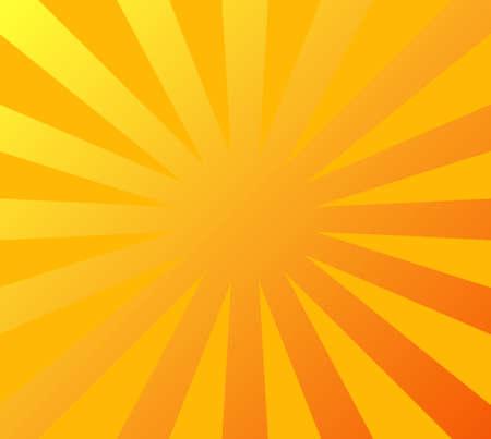 illustration of sunburst in orange and yellow color tones