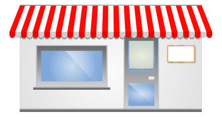 illustration of Storefront Awning in red Vector