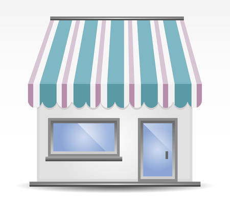 illustration of Storefront Awning in blue Stock Vector - 7908752