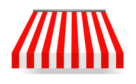 sunshades: illustration of Storefront Awning in red