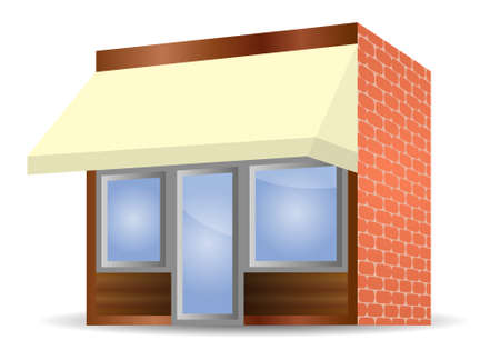 illustration of Storefront Awning in yellow Stock Vector - 7998029