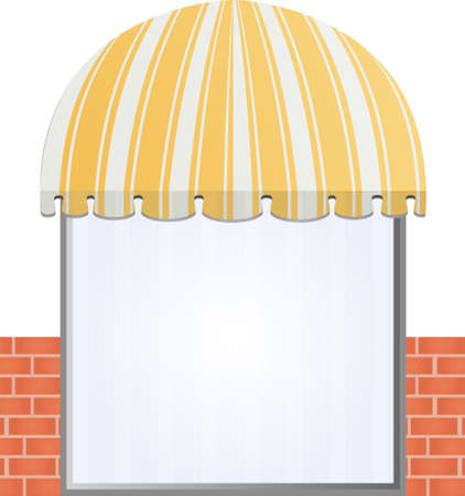 storefront: illustration of  Storefront Awning in yellow