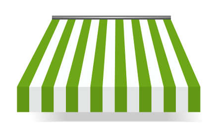 illustration of Storefront Awning in green Vector